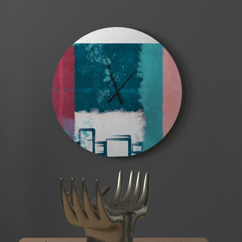 Latitude Run Mitigative Zealful Abstract Metal Wall Clock Wayfair
