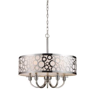Brayden Studio Pancoast 5-Light Drum Chandelier