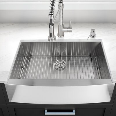 vigo camden 30   x 22   farmhouse kitchen sink with grid and strainer vigo vigo camden 30   x 22   farmhouse kitchen sink with grid and      rh   wayfair com