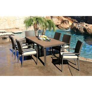 World Wide Wicker Tampa 7 Piece Dining Set