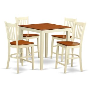 Given 5 Piece Counter Height Pub Table Set by Charlton Home