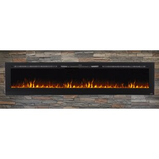 Quentin Recessed Wall Mounted Electric Fireplace by Brayden Studio
