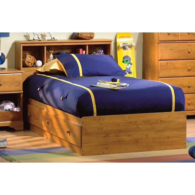 Little Treasures Twin Mate S Captain Storage Bed And Bookcase Headboard