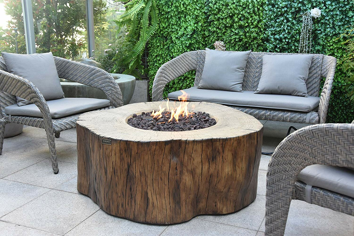 Claxton Outdoor Concrete Fire Pit