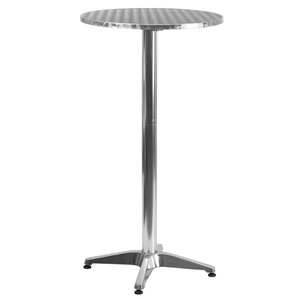 Round Aluminum Bar Table by Offex
