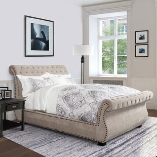 Claire Tufted Upholstered Sleigh Bed