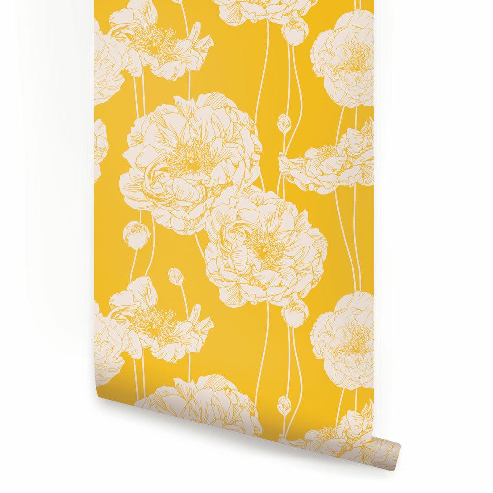 Self Adhesive Yellow Wallpaper You Ll Love In 2020 Wayfair