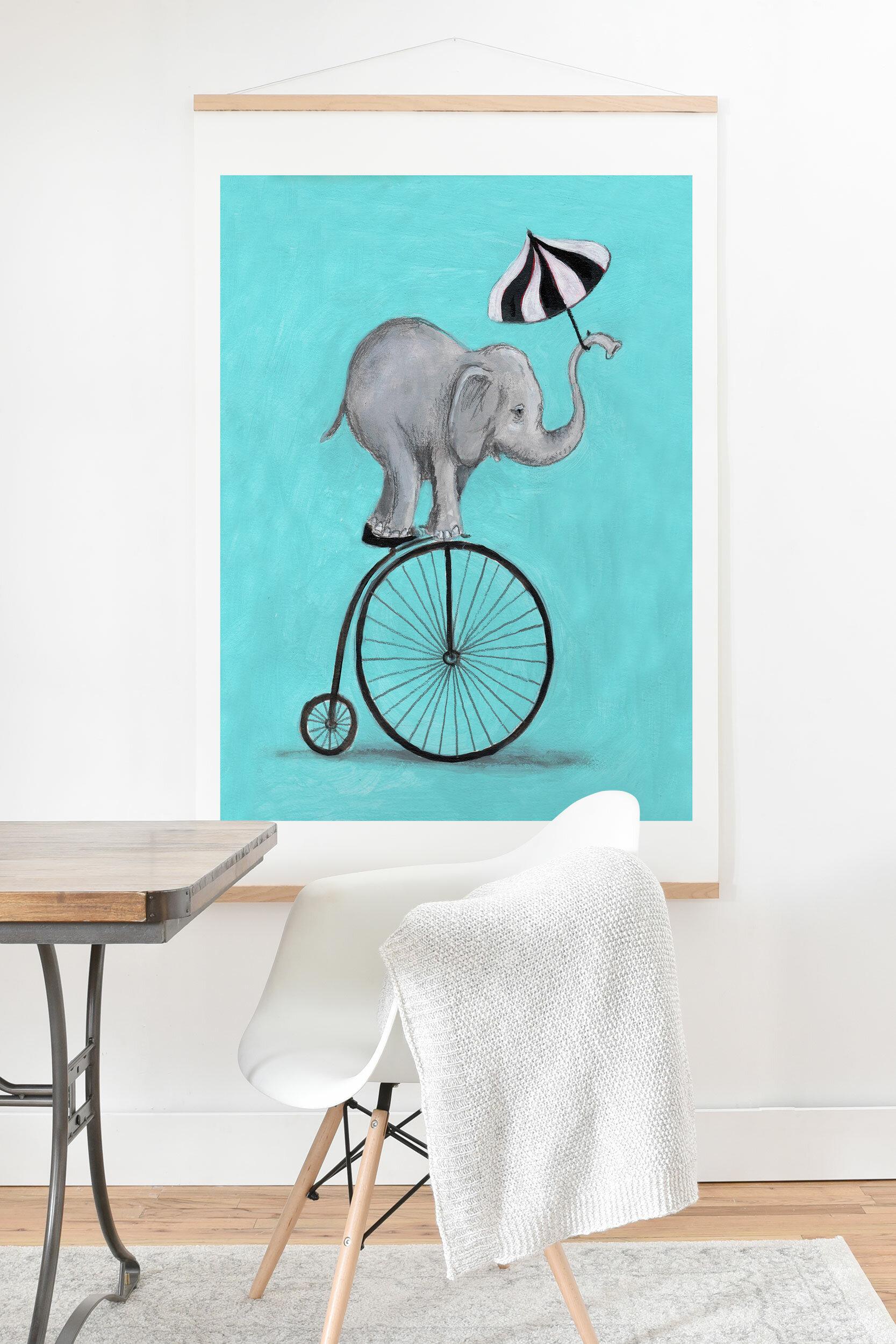 East Urban Home Coco De Paris Elephant With Umbrella Wall Hanging Wayfair