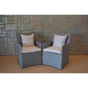 wicker chairs with cushions set of 2