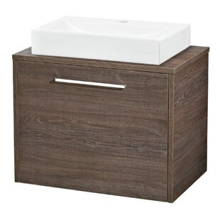 Horizon Solid Oak 600mm Wall Mount Vanity Unit By Hudson Reed