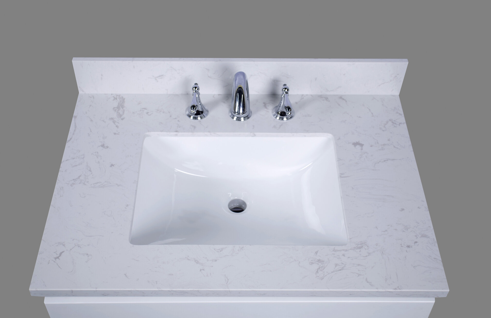 Marvelous Renaissancevanity Bari 31 Single Bathroom Vanity Top Beutiful Home Inspiration Semekurdistantinfo