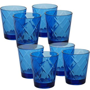 Diamond 15 oz. Acrylic Whiskey Glass (Set of 8)