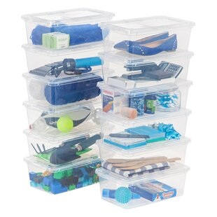 6 qt Storage Plastic Box (Set of 12) by IRIS USA, Inc.