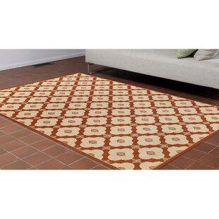 Deck Modern Tile Ivory Indoor/Outdoor Area Rug
