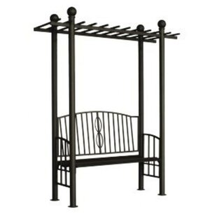 Toscana Metal Arbor With Bench By Dc America Deals Price