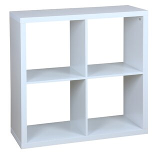 Lizbeth 4 Open Cube Organizing Wood Storage Shelf, White
