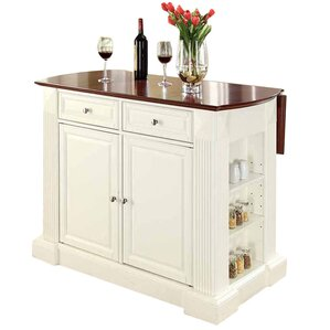 Byron Drop Leaf Breakfast Bar Top Kitchen Island by Beachcrest Home