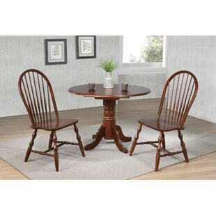 Kenya 3 Piece Drop Leaf Solid Wood Dining..