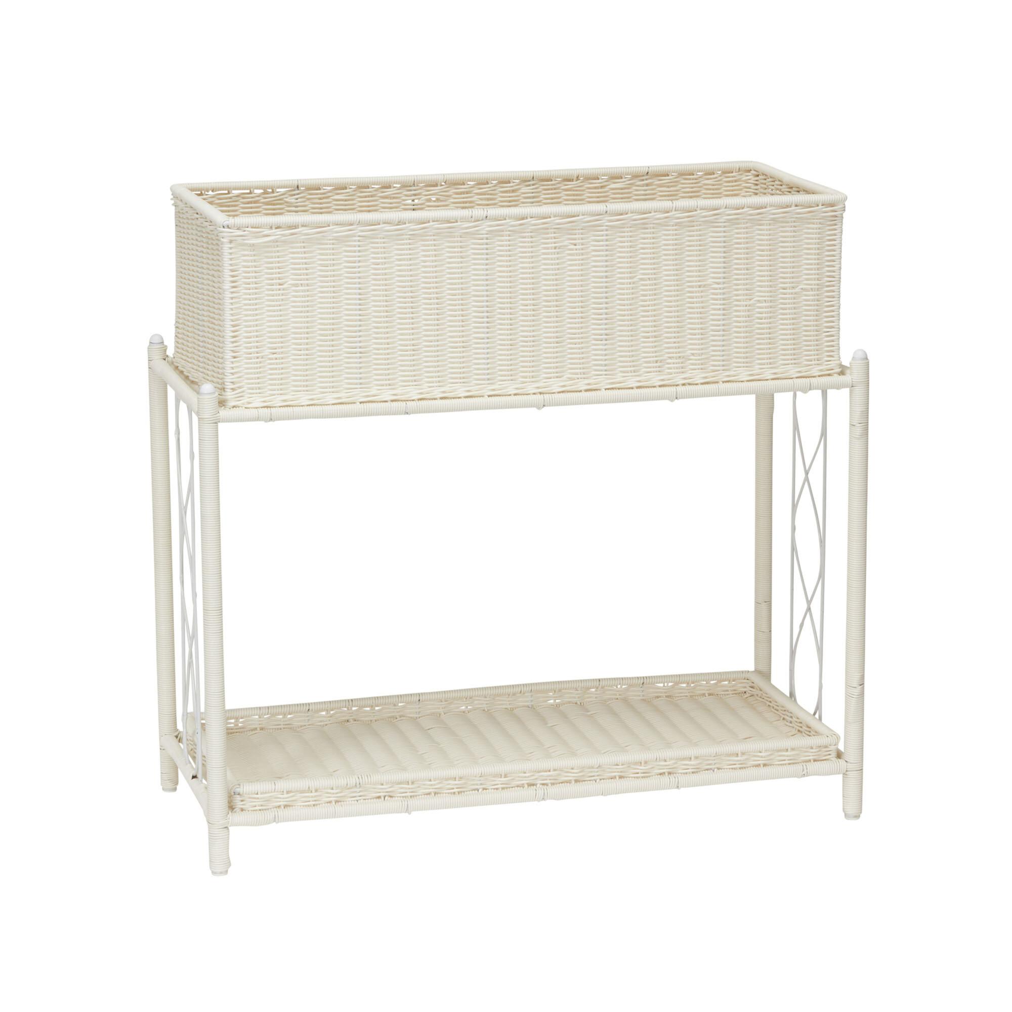 Household Essentials Resin Planter Box With Shelf Wayfair