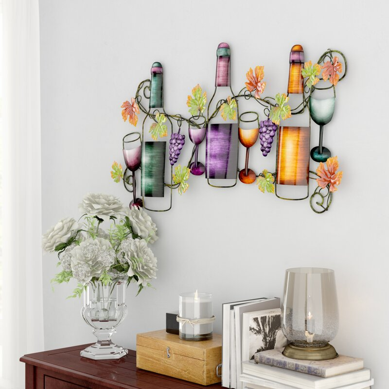 Metal Wine Wall Décor