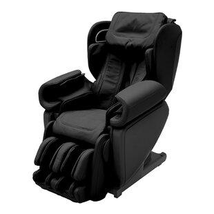 4D Premium Reclining Zero Gravity Heated Full Body Massage Chair with Ottoman by Latitude Run