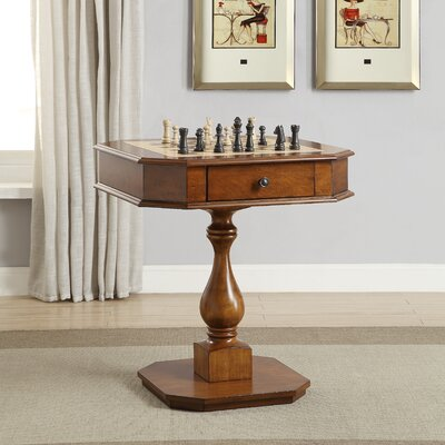 """28"""" Kase Chess & Backgammon Table Darby Home Co Finish: Cherry"""