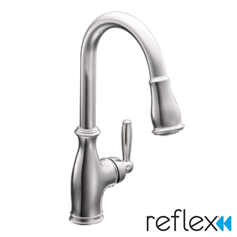Brantford Pull Down Touchless Single Handle Kitchen Faucet With Reflex And  Power Boost