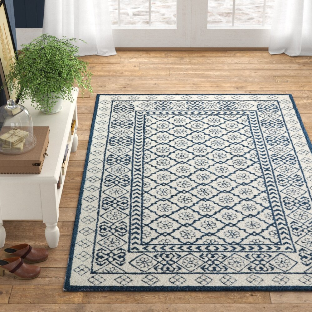 Anderson Hand Tufted Wool Blue Area Rug