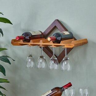 Ebern Designs Hadsell 6 Bottle Wall Mounted Wine Rack