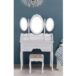 Online Reviews Media Vanity Set With Mirror By House of Hampton