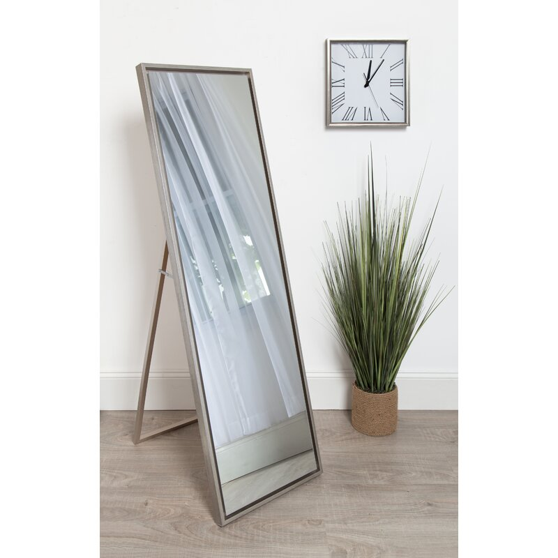 Genial Whitakers Wood Framed Easel Free Standing Full Length Mirror