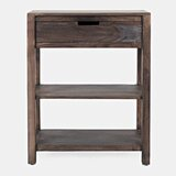 Leandra Solid Wood End Table with Storage by Loon Peak®