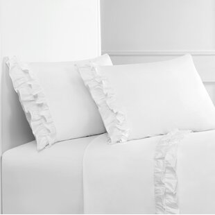 Quillen Double Ruffle 300 Thread Count Percale Sheet Set