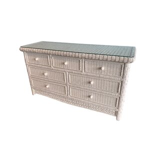 Nahua 7 Drawer Double Dresser by Bay Isle Home