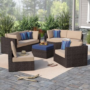 Beachcrest Home Caledonia 7-Piece Sectional Set with Cushions