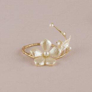 Ornamental Floral Napkin Ring (Set of 8)