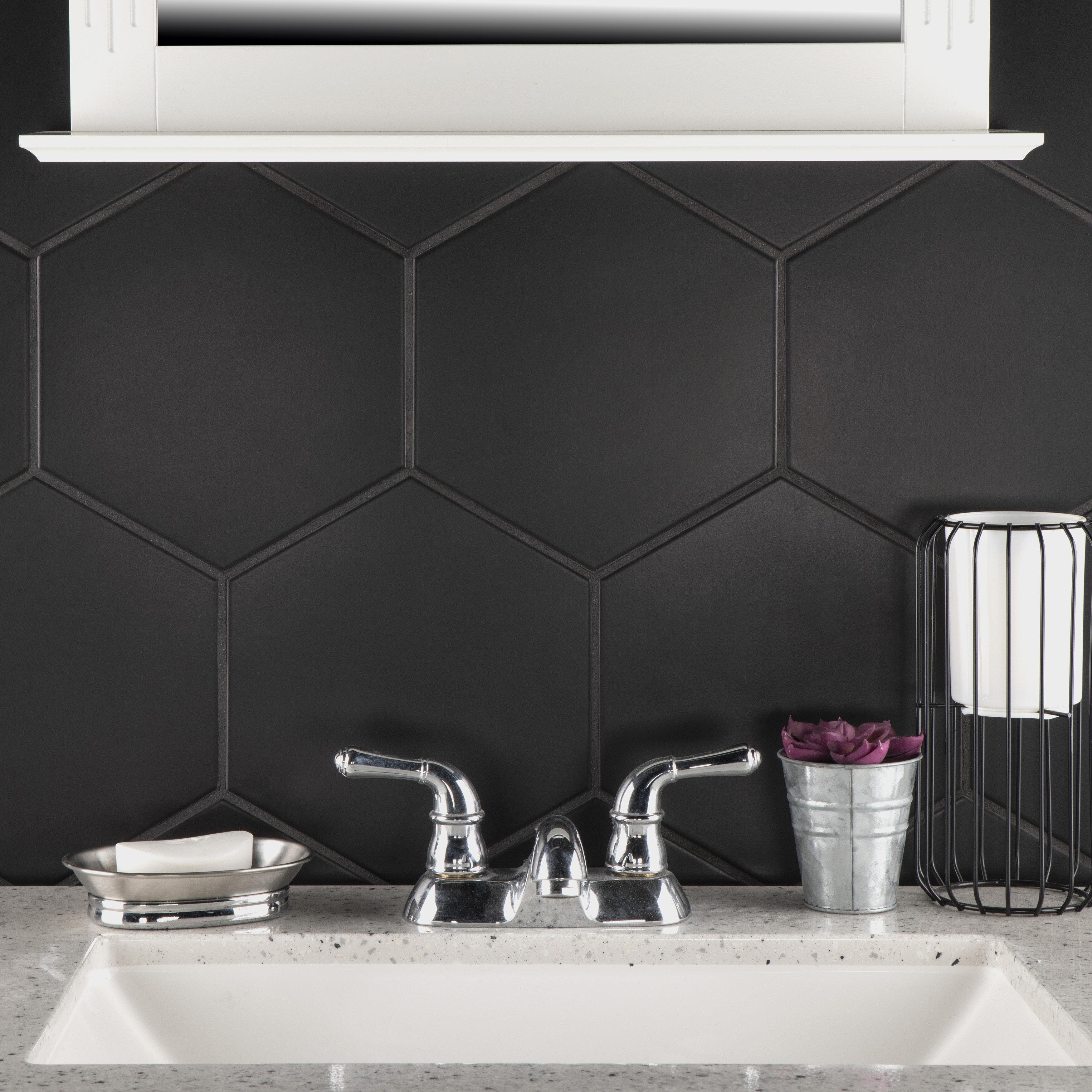 Black White Cream Backsplash Tile You Ll Love In 2020 Wayfair