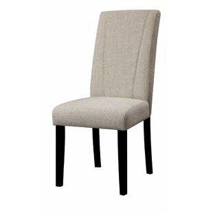 Charlton Home Polzin High Back Parson Upholstered Dining Chair (Set of 2)