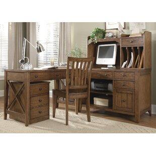 Loon Peak Methuen 6 Piece L-Shape Desk Office Suite
