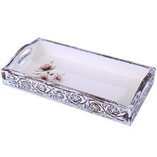 Ever Ellis Like A Boss Rectangular White and Gold 6 x 3 Ceramic Decorative Trinket Tray