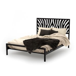 Zebra Platform Bed by Amisco