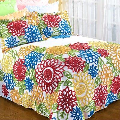 summer garden chenille bedspread - Chenille Bedspreads