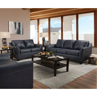 Basham Leather Configurable Living Room Set by Ebern Designs