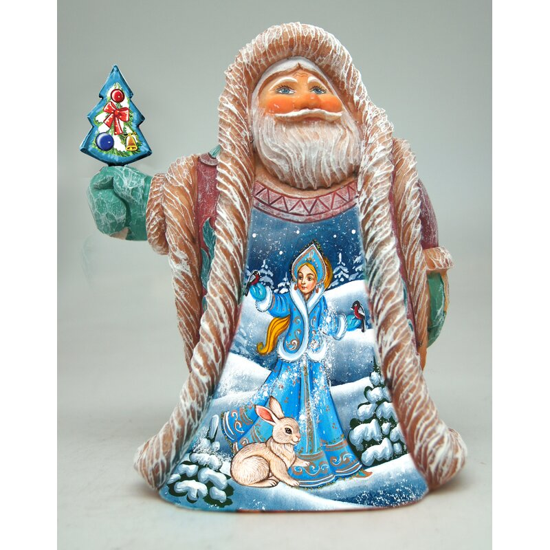 The Holiday Aisle Fifield Snow Maiden Regal Santa Figurine Derevo Collection Wayfair