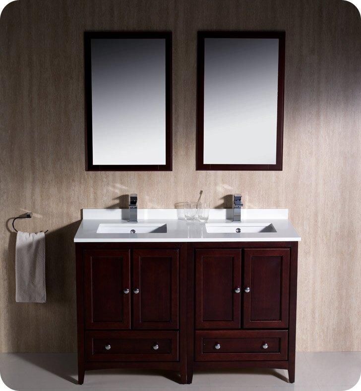 "Bathroom Vanities Traditional fresca oxford traditional 48"" double bathroom vanity set with"