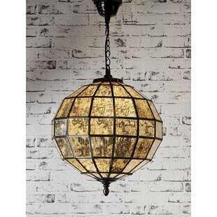 Mercury Glass 1 Light Globe Pendant by Fashion N You by Horizon Interseas