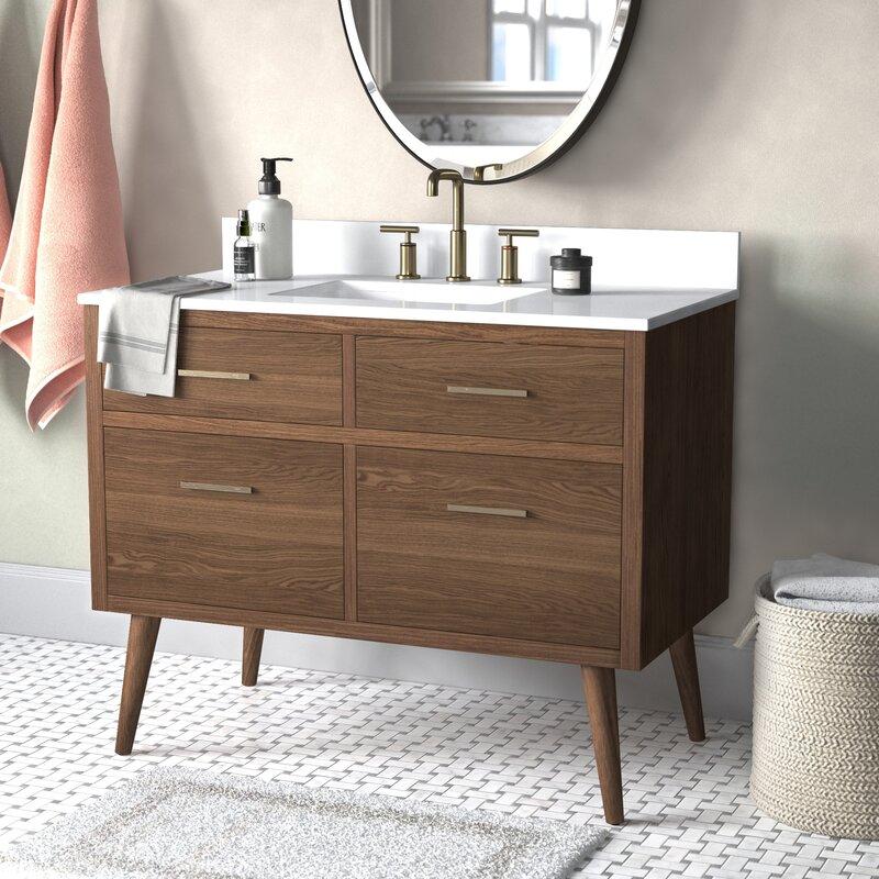 Mercury Row Burleigh 42 Single Bathroom Vanity Set Wayfair