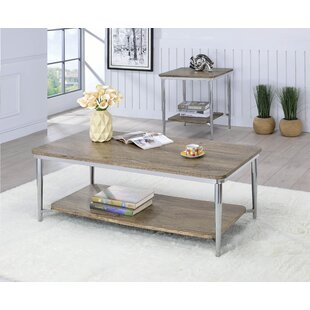 Wrought Studio Gongora 2 Piece Coffee Table Set