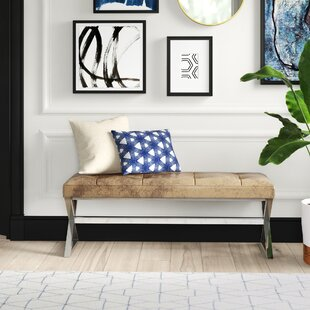 Arreola Faux Leather Bench by Mercury Row