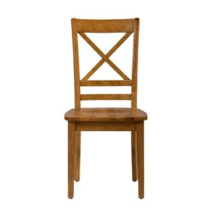 Wallis Solid Wood Dining Chair (Set of 2) August Grove